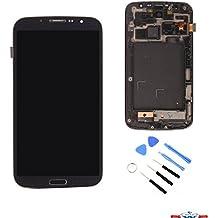 SWS® Pantalla Completa Original (LCD + táctil + chasis) 'de repuesto para Samsung Galaxy Mega 6.3I9200I9205i9208E310S i527negro & kit de herramientas completo (negro)