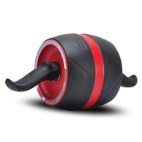 COVVY Fitness Bauchtrainer AB Carver Pro mit Knieauflage Für Fitness Bauchmuskeltraining Muskelaufbau Bauchroller für Frauen und Männer (Weinrot)