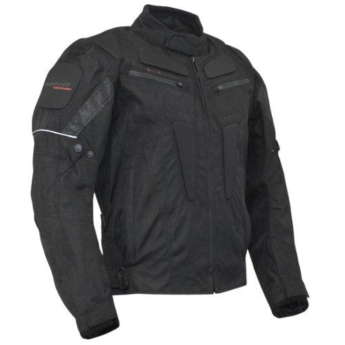 *ROLEFF RACEWEAR Motorradjacke Riga RO 301, schwarz, L, 3014*