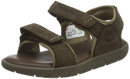 Timberland Unisex-Kinder Nubble Leather 2 Strap Sandalen, Rot (Red Briar X1d), 24 EU