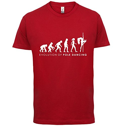 Evolution of Woman - Poledance - Herren T-Shirt - 13 Farben Rot