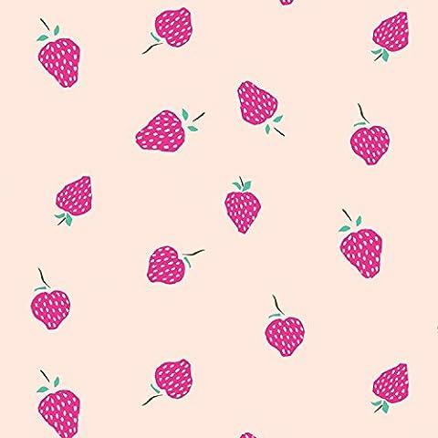 Papel de regalo verano fresas X 3etiquetas
