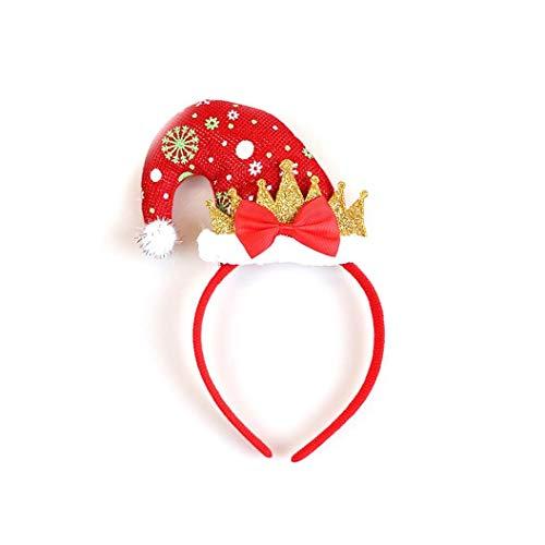 Canjerusof Christmas Elf Hat Stirnband Sankt-Hut-Stirnband Für Kind Erwachsene Sankt Helfer Stirnband Partei Zubehör-Schneeflocke (Kinder Santa's Helfer Kostüm)