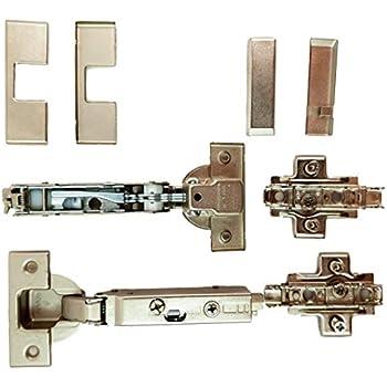 SO-TECH/® Charni/ère Invo T45 Montage porte rentrante 110/° /à amorti et plaque de montage de r/églage excantrique