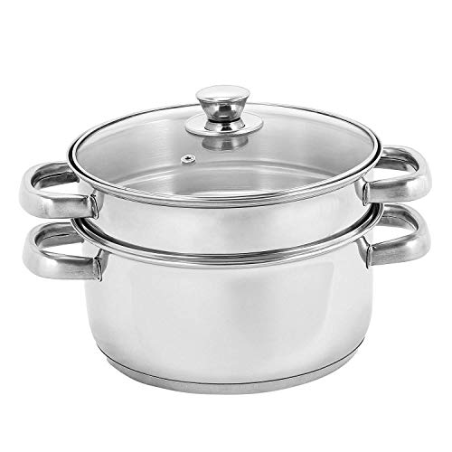 Vinod Cookware 20 cm 2 Tier Steamer