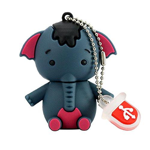 32 GB USB-Stick Cartoon Graue Elefant Shaped 32G Memory Stick USB 2.0 U Festplatte
