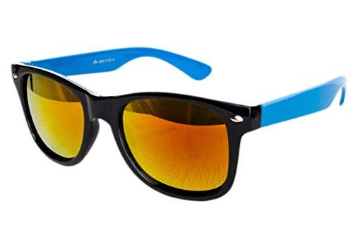NEW WAYFARER occhiali da sole Vintage Classico da Uomo da Donna Aviator UV400 multicolore Black Blue Fire