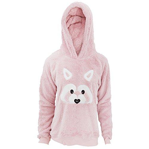 Foxbury - Haut de pyjama polaire à motif animal - Femme Raton laveur