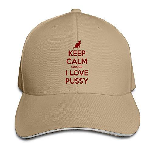 Unisex Baseball cap Keep Calm Cause I Love Pussy Cotton Trucker Hat Adjustable Fashion Sports Fan Caps Comfortable 18157