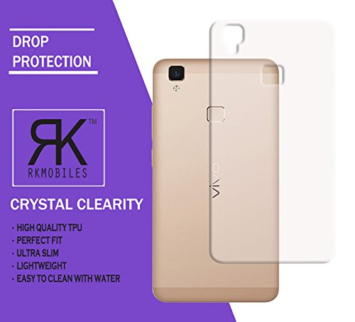 Vivo V3 Max Ultra Thin 0.3mm Clear Transparent Flexible Soft TPU Slim Back Case Cover (For Vivo V3 Max)