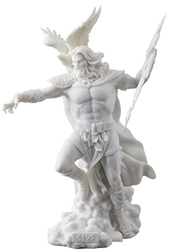 JFSM INC Zeus Griechische Gott Halten Thunderbolt Statue mit Adler