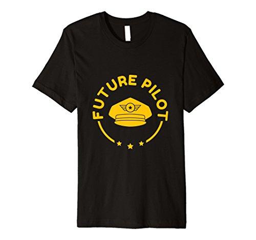 Funny Future Pilot T-Shirt Kids Flugzeug Fun Captain Geschenk