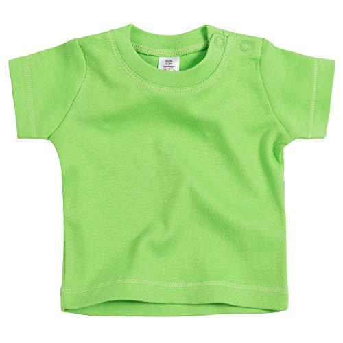 Purzelbaum Baby T-Shirt für Mädchen & Jungen | 100% Bio-Baumwolle | Schadstofffrei | Druckknöpfe | GOTS Zertifiziert | Kurzarm Tshirt in Grün, Gr. 80 (Zertifizierte Bio-grüner Tee)