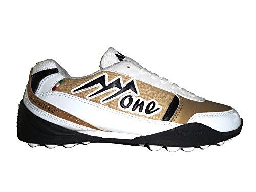 AGLA , Chaussures pour homme spécial foot en salle Gold/Black