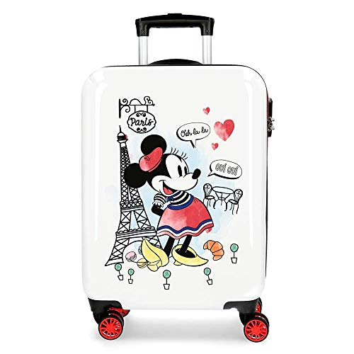 Trolley Minnie Around The World Paris Disney Valigia da Viaggio CM. 55x38x20 in ABS - 3151729