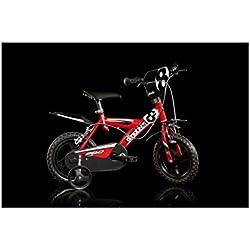 Partner AUA123GLN - Bicicleta para niño, Rueda 12 in, Color Rojo