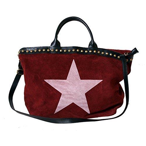 XL Sac à main Femmes Sac En Bandoulière Shopping Sac à bandoulière sac Cuir Sac femmes Sac à main pour femmes Sac à anses Rouge étoile