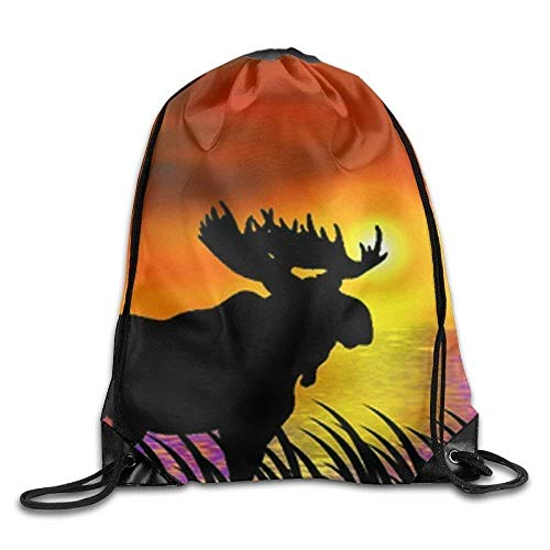HLKPE Thanksgiving November Turkey Unisex Drawstring Backpack Travel Orts Bag