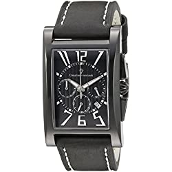 Christian Van Sant Herren cv4512 Analog Display Quartz Black Watch