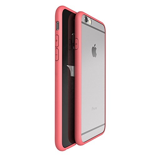 OnPrim Superior Ultra Thin Slim Fit Clear Frame Hybrid Flexbile TPU Case With Tempered Glass Film For iPhone 6 6s 4.7 Inth Red