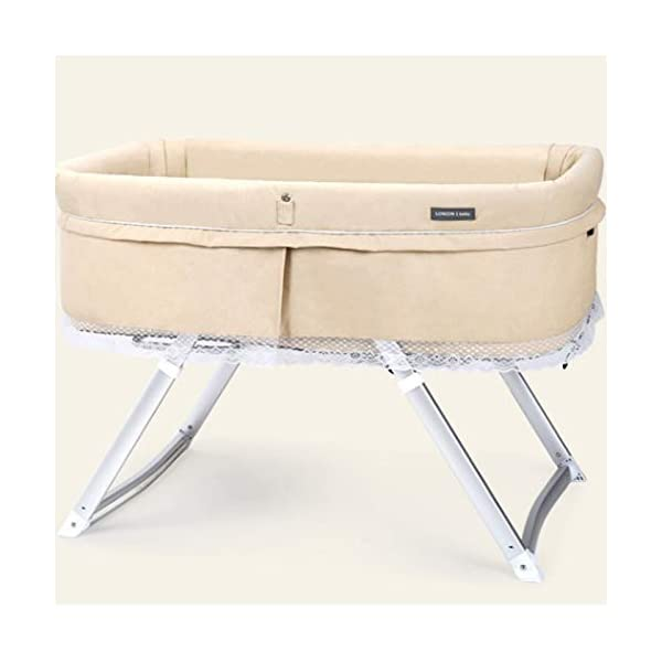 ZXCVB Travel Multifunctional Crib Travel Baby Cot Multifunctional Folding Portable Crib Cradle Bed Newborn Shaker 94 * 56 * 65cm,(3 Kinds Color) (Color : Beige) ZXCVB ★【MATERIAL】 breathable mesh, soft and comfortable, free of paint formaldehyde, wear-resistant, dirt-resistant, durable, care for your baby's body and healthy growth ★size:94*56*65 ★【FEATURES】The front fence can be adjusted, the baby has more space for activities, adjustable toy pole and the back of the chair, comfort the baby's mood, three-point seat belt to provide security for your baby's growth 1