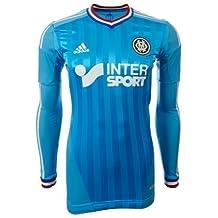 Adidas - Camiseta reversible del Olympique de Marseille 2012/13, diseño con logotipos y líneas, color negro y rojo Talla:Adult Men's Medium