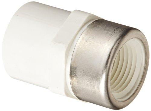 Spears PVC Rohrverschraubungen, reduziert Adapter, Schedule 40, Grau, Sockel X NPT Buchse, 1/2