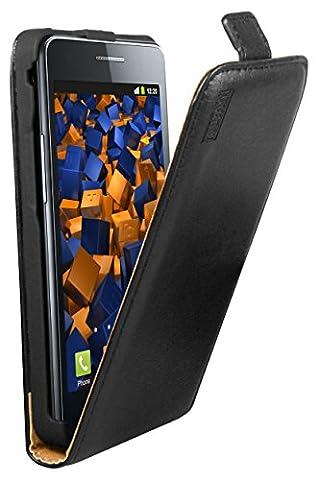 mumbi PREMIUM Leder Flip Case für Samsung i9100 Galaxy S II Tasche Hülle - Ledertasche Galaxy S2 S 2 SII