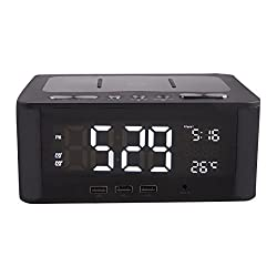 Altec Lansing IMW466-N LCD Alarm Clock Bluetooth FM Radio Speaker with USB Charging Ports for Smart Phones and Tablets