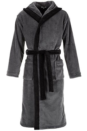 Di Ficchiano DF-15 Unisex Bademantel Black Gr. 4XL