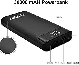 Probeatz New 30000mah Digital Display Power Bank (Multicolor)