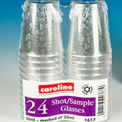Caroline verres à Shot jetables - 1617