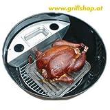 Grill - Smoker für Weber u. Outdoorchef 57 cm Holzkohlegrill