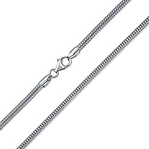 Bling Jewelry 925 Sterling Silver Snake Chain Necklace 3mm Italy