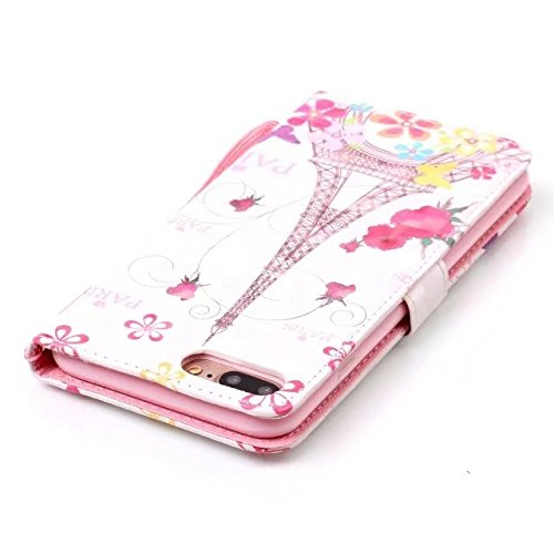 Cover iPhone 7 Plus,iPhone 8 Plus Coque,Valenth [Pu Leather] Portefeuille multi-parche 3D Coque Etui [Stand Feature] Flip Coque avec embouts pour iPhone 8 Plus / iPhone 7 Plus 9#
