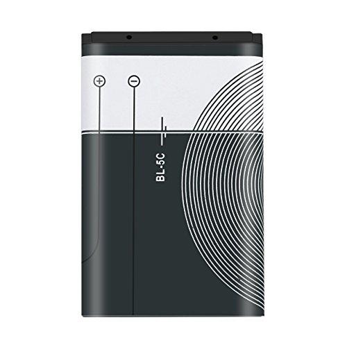 Heraihe 1pcs 1020mAh de Capacidad BL-5C del teléfono Carga de la batería para el reemplazo de Nokia BL-5C 3.7V 3.8Wh Batería móvil Inteligente de la batería