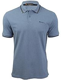 Ben Sherman - Polo - Uni - Col Chemise Classique - Manches Courtes - Homme bleu bleu