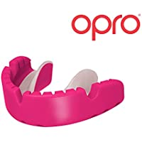 Opro Mouth Guard for Braces - Fits Over Braces For Rugby, Boxing, UFC, Lacrosse, Basketball, MMA, Football, Hockey, Contact Sports -Clearance