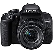 Canon EOS 800D Digital SLR Camera and EF-S 18-55mm f/4.5.6 IS STM lens - black