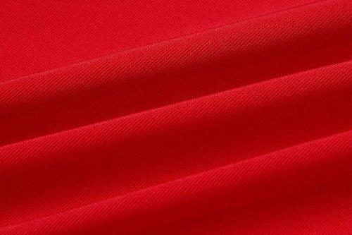 Angashion Damen Seitlich Gebunden Bikini-sets Hoher Taille Badeanzug Bikini Set Push Up Bademode Badeanzug Rot