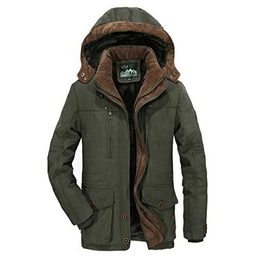 Splrit-MAN Herren Militär Jacke Winter Warme Fleece Jacke Zipper Sweater Jacke Outwear Mantel Übergangsjacke Parka Pilotenjacke Männer Feldjacke -
