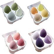 4 pcs Beauty Blender Complexion Sponge Multi-Colored Egg Shaped Foundation Blending Sponge is Makeup Ideal for