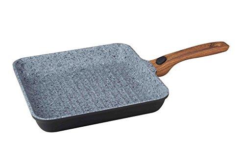 Designer Topfset , Servierpfanne , Grillpfanne , Kasserolle mit abnehmbarem Griff 10469 (Grillpfanne 28cm eckig)