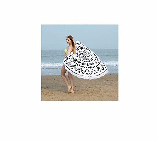Xxszkaa/asciugamano da spiaggia con stampa frange e scaldasalviette / tappetino da spiaggia / materassino da yoga, a1, 150 * 150cm