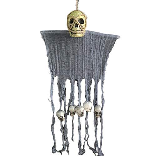 The World's First-Halloween Hänge Totenkopf Geist Mit Kunsthaar Anhänger Spukhaus Bar Party Dekoration Ornament, - Ganzkörper Bunny Kostüm