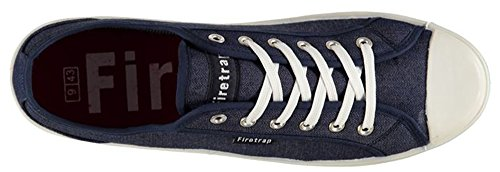 Homme Casual Chaussures lacées Charlie Toile Formateurs Denim Indigo