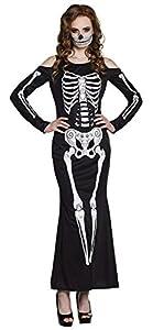 Boland Disfraz 79101Adultos Mrs Bones Talla M, Negro/Blanco, M