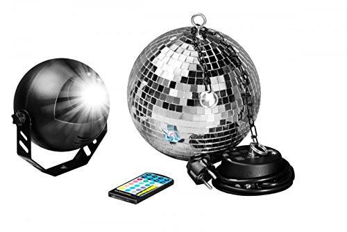 7even LED Spiegelkugelset 30cm mit Fernbedienung / Party Keller Disco Disko Kugel Motor Farbige LED