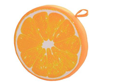 Monbedos Dicke Sitz-Pads Plüsch Fruit Design Stuhl Kissen, Kissen Geeignet für Esszimmer Wohnzimmer Terrasse Garten Büro Coffee Shop, Orange Stil, 33 cm