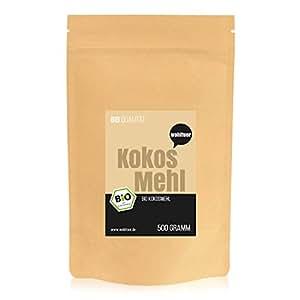Wohltuer Bio Kokosmehl |Bio Kokos Mehl | Glutenfrei, nährstoffreich & vegan | vielseitiges Lebensmittel in geprüfter Bio-Qualität (500g)